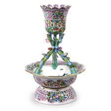 Herend Floral Vase Ornament