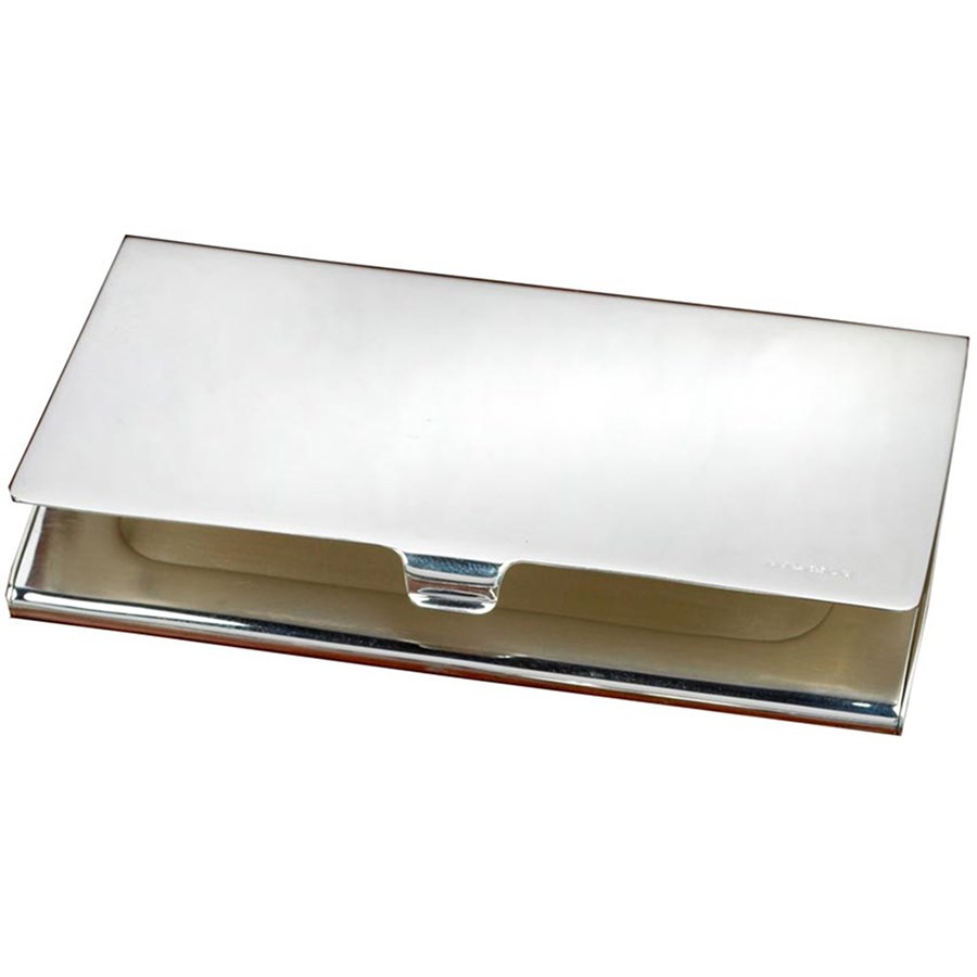 sterling silver business card case hover to zoom - Silver Business Card Holder