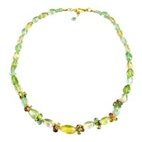 Beryl Necklace with 18k Yellow Gold