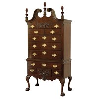 Mahogany Two-Piece Highboy