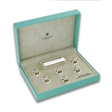 Silverplated Frog Place Card Holders, Set of 6