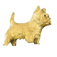 West Highland Terrier Gold Pin