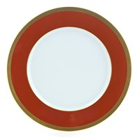 Laque de Chine Gold & Brick Dinnerplate