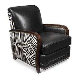 Serengeti Conrad Chair with Zebra Stripe