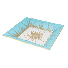 Haviland Ritz Club Turquoise Square Tray