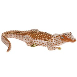 Herend Alligator Figurine