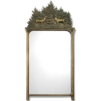 Hosta Deer Mirror, Bronze