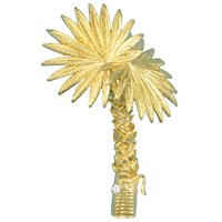 Palm Tree Gold Pin