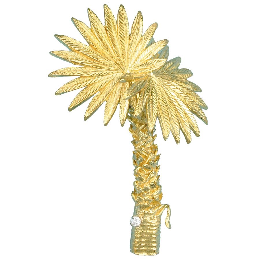 Palm Tree Gold Pin Leaves Amp Shells Pins Amp Brooches