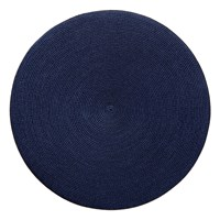 Navy Round Linen Braided Placemat, 15""