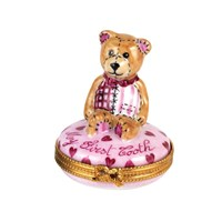 Teddy Bear My First Tooth Box Pink