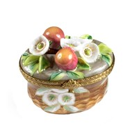 Peach Blossom Basket Limoges Box