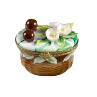 Cherry Blossom Basket Limoges Box