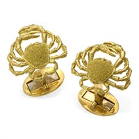 18k Gold Crab Cufflinks