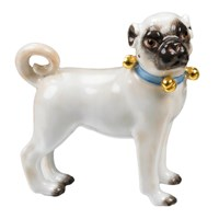 Small Standing Pug Bells Facing Right