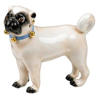Small Standing Pug Bells Facing Left