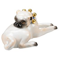 Lying Pug with Bells