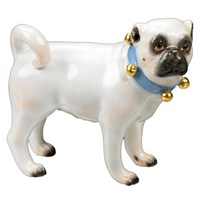 Large Standing Pug Bells Facing Right