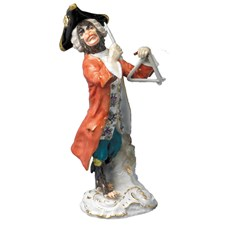 Meissen Monkey Orchestra Triangle Player