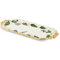 Botanical Ceramic Tray with Handles
