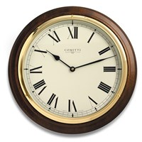 Mahogany Quartz Wall Clock
