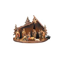 Handpainted Wooden Creche Small