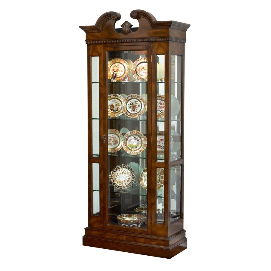 Mahogany Curio Cabinet With Light Cabinets Cupboards Cabinets Bookcases Chests