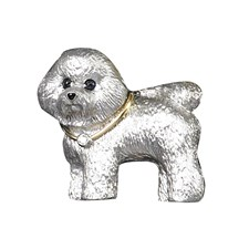 18k Yellow Gold Bichon Frise Pin