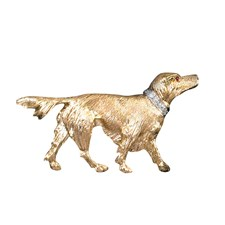 18k Yellow Gold Red Setter Pin