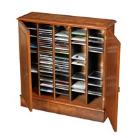 Burr Elm CD Storage Cupboard