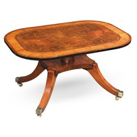 Burr Elm Cocktail Table