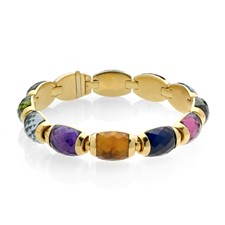 18k Gold Multicolor Tourmaline Bracelet