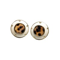 Mammoth Ivory Earrings Cowrie Centers