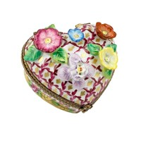 Heart with Flowers Limoges Box