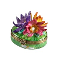 Water Lilies Oval Limoges Box