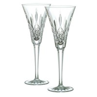 Waterford Lismore Toasting Flutes, Set of Two