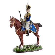 Rider & Brown Horse 17th Lancers 1815