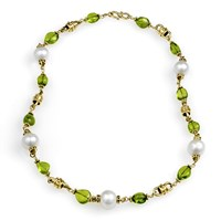 Peridot & Freshwater Pearl Necklace