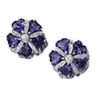 Iolite Mini Sand Dollar Earrings