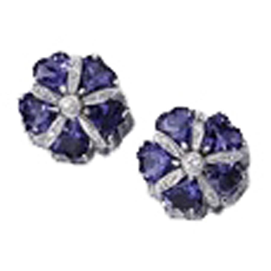 Iolite mini sand dollar earrings more earrings for Dollar jewelry and more