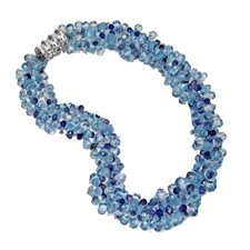 Iolite & Blue Topaz Two-Strand Necklace