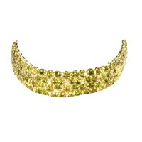 Wide Peridot Bracelet 1.96ct Diamonds