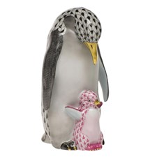 Herend Penguin and Baby Figurine