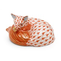 Herend Mini Sleeping Fox  Figurine