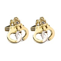 18K Y/W Gold Handcuff Cufflinks