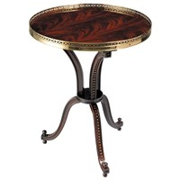 William Side Table Mahogany Round