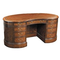 Nelson Walnut Kidney Desk (4 piece)