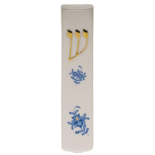 Herend's Chinese Bouquet Blue Mezuzah