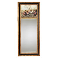 Hunt Scene Mirror with Black Background