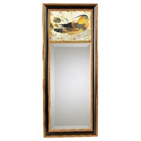 Chinese Pheasant Mirror with Black Bkgd